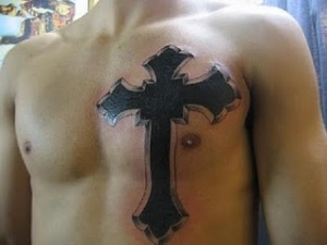 Body cross tattoo