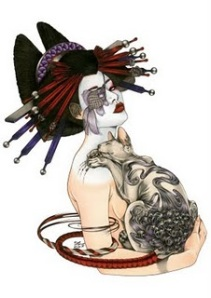 Beautiful Japanese Geisha Tattoos Design 1