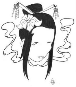 Beautiful Japanese Geisha Tattoos Design 2