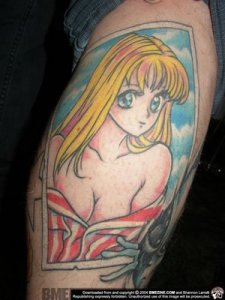 Does the tattoo of the Manga is popular in Europe and America?