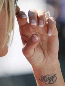 tattoo on wrist, wrist tattoo designs, victoria beckham tattoos,
