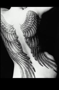great tattoo designs tribal tattoo and wings tattoo on side