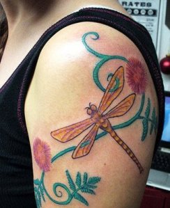 how to choose unique dragonfly tattoo design for cute girl
