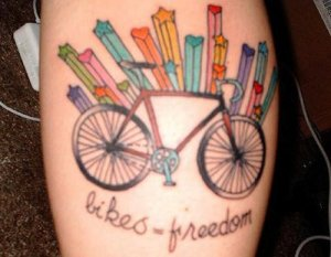 that other people here on this interweb thing have bicycle tattoos