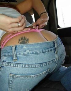belleybutton, cow butt, gross, monkey butt, tattoo. Butt Tattoos