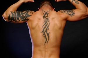 star tattoos girls men tattoo design. Men Tribal Tattoo Design For Back and