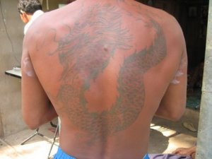 what picture gets the most hits now, it's the Burmese dragon tattoo.
