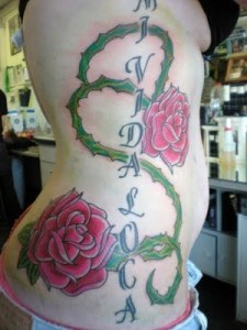 Side Body Flower Tattoo Designs For Girls