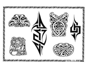 Celtic Classic Temporary Tattoo Sleeve. Design: TS-1