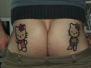 hello kitty tattoos on butt Tattoo Designs on Butts