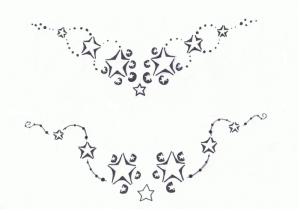 Trend Lower Back Tattoo: Star Tribal Tattoos for Girls