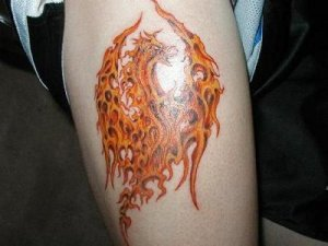 Phoenix Bird Tattoo 3