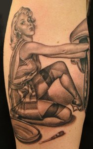 pin up girls tattoo picture gallery1 pin up girls tattoo picture gallery