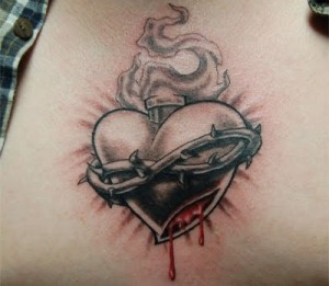 Enjoy this photo gallery of some very meaningful tattoos of the Sacred Heart