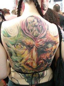 apanese Tattoo - Full Color Upper Or Lower Back Tattoo Art Design