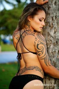 Sexy Girl Tribal Tattoo