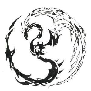 Slide Show Tribal Dragon Tattoo Designs