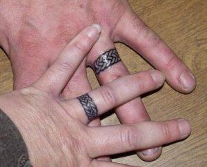 New wedding ring tattoo, for 1 year anniversary