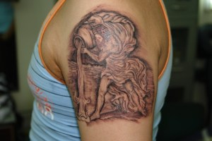 Hiya people, this is the first awesome Aquarius Tattoo of Zodiac Tattoo